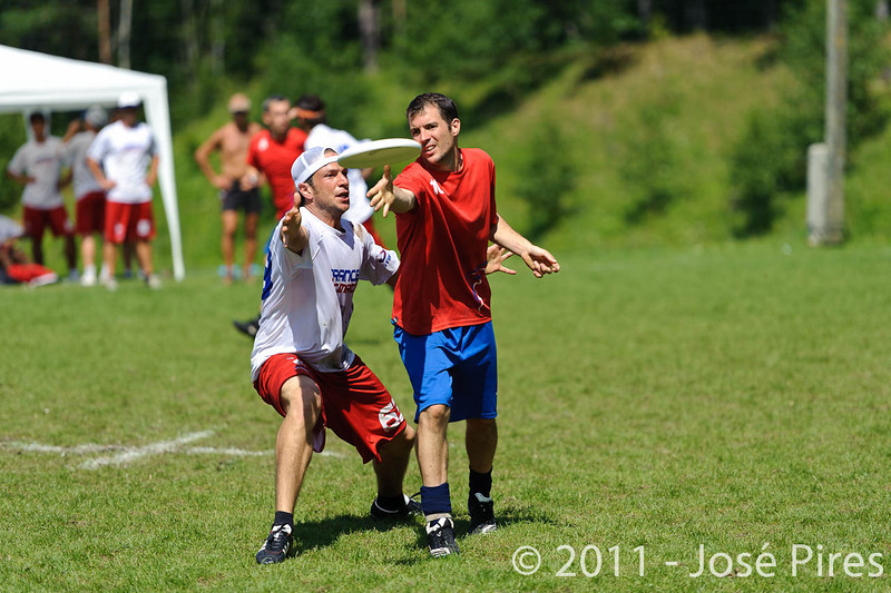 EUC2011, Maribor Slovenia.<br /> France vs Great Britain. Master Division.<br /> PhotoID : 2011-08-02-0707
