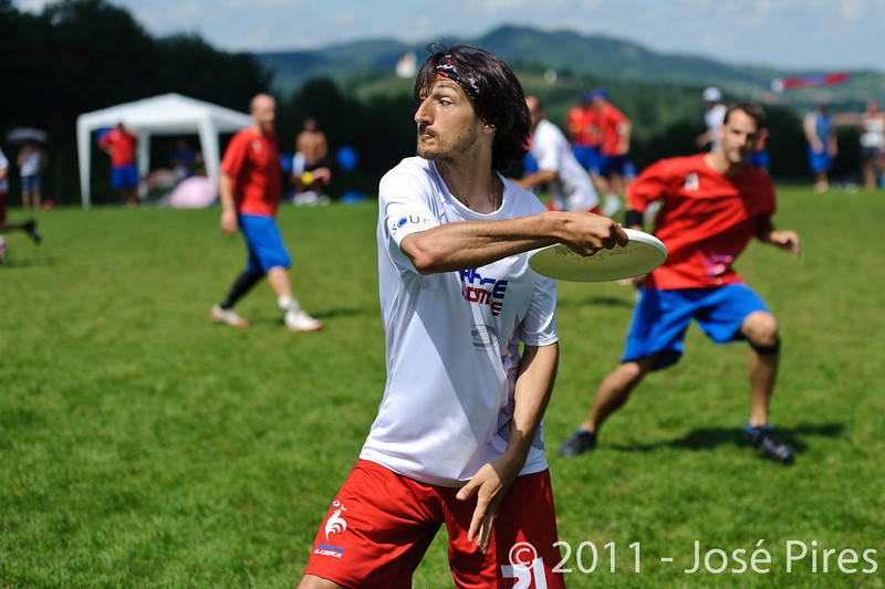 EUC2011, Maribor Slovenia.<br /> France vs Great Britain. Master Division.<br /> PhotoID : 2011-08-02-0612