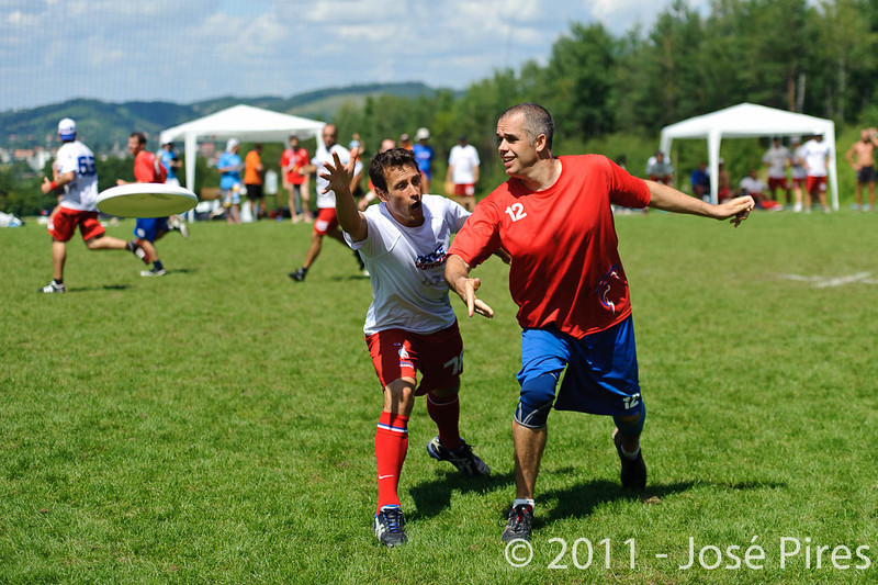 EUC2011, Maribor Slovenia.<br /> France vs Great Britain. Master Division.<br /> PhotoID : 2011-08-02-0710