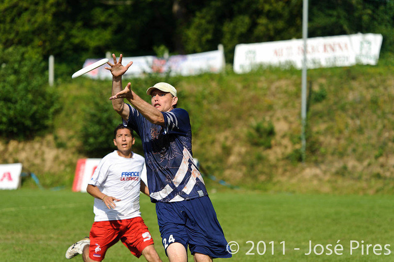 EUC2011, Maribor Slovenia.<br /> Finland vs France. Semi-Final. Master Division<br /> PhotoId :2011-08-03-0998