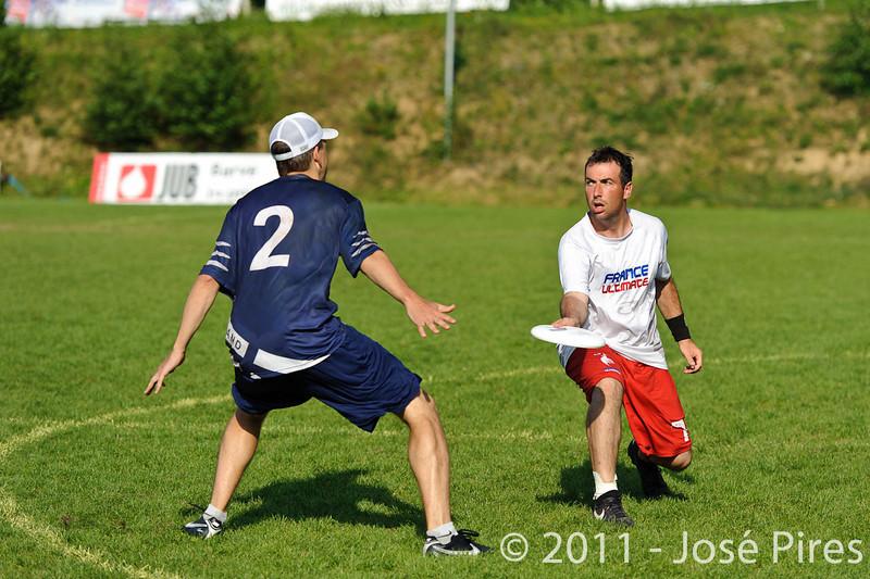 EUC2011, Maribor Slovenia.<br /> Finland vs France. Semi-Final. Master Division<br /> PhotoId :2011-08-03-1131