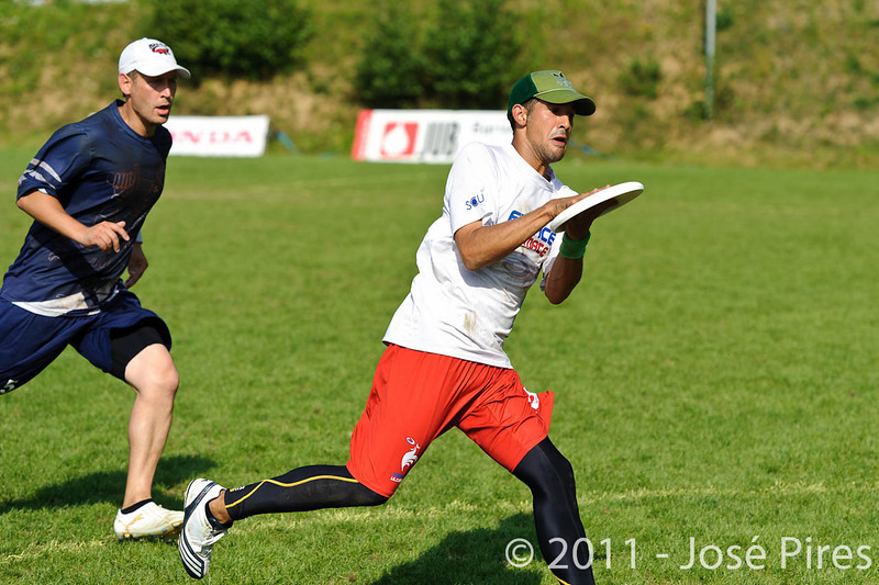 EUC2011, Maribor Slovenia.<br /> Finland vs France. Semi-Final. Master Division<br /> PhotoId :2011-08-03-0976