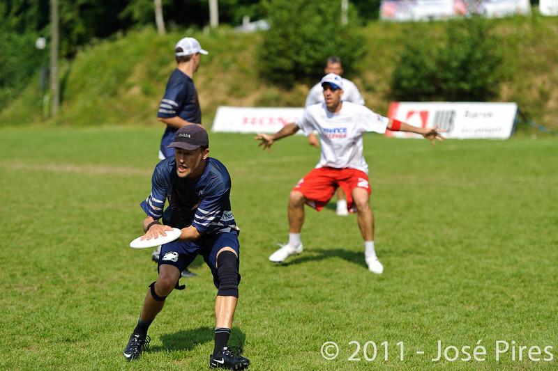 EUC2011, Maribor Slovenia.<br /> Finland vs France. Semi-Final. Master Division<br /> PhotoId :2011-08-03-0890