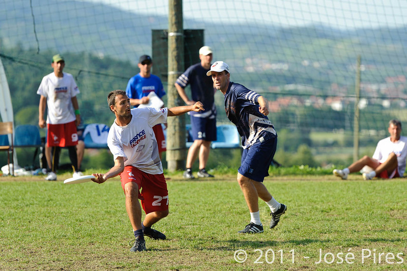 EUC2011, Maribor Slovenia.<br /> Finland vs France. Semi-Final. Master Division<br /> PhotoId :2011-08-03-1169