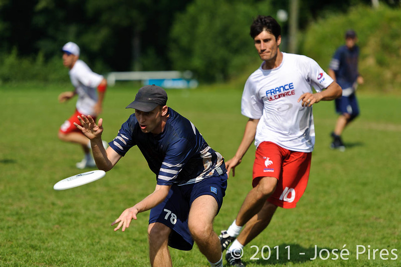 EUC2011, Maribor Slovenia.<br /> Finland vs France. Semi-Final. Master Division<br /> PhotoId :2011-08-03-0882