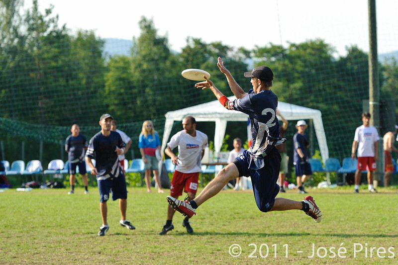 EUC2011, Maribor Slovenia.<br /> Finland vs France. Semi-Final. Master Division<br /> PhotoId :2011-08-03-1199