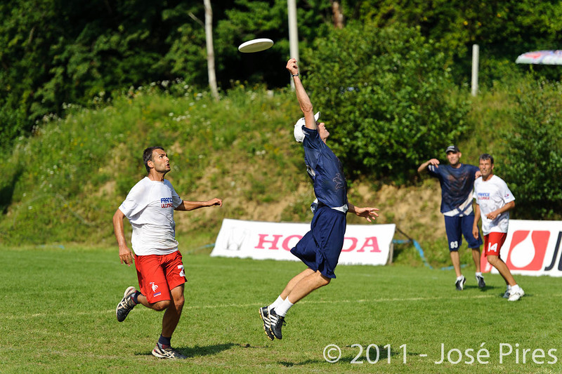 EUC2011, Maribor Slovenia.<br /> Finland vs France. Semi-Final. Master Division<br /> PhotoId :2011-08-03-0986