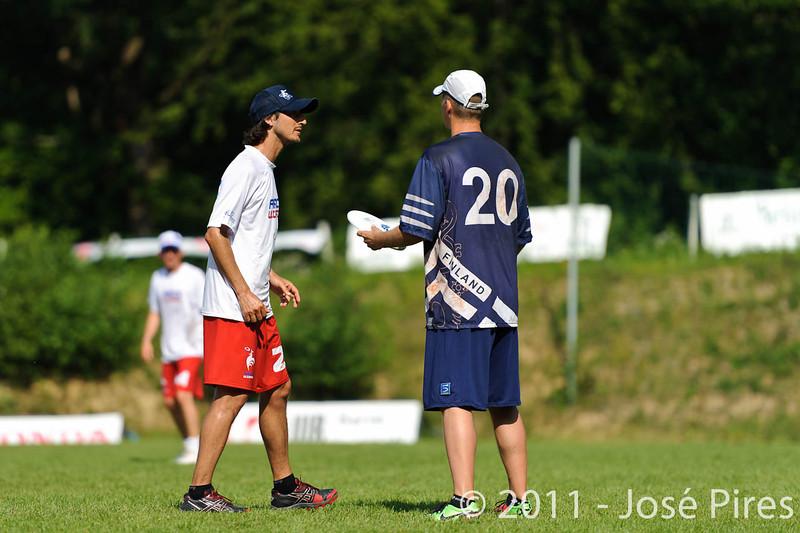 EUC2011, Maribor Slovenia.<br /> Finland vs France. Semi-Final. Master Division<br /> PhotoId :2011-08-03-0956