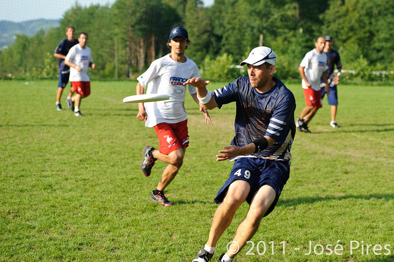 EUC2011, Maribor Slovenia.<br /> Finland vs France. Semi-Final. Master Division<br /> PhotoId :2011-08-03-1202