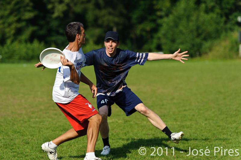 EUC2011, Maribor Slovenia.<br /> Finland vs France. Semi-Final. Master Division<br /> PhotoId :2011-08-03-1118