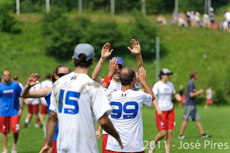EUC2011, Maribor Slovenia.<br /> France vs Austria. Mixed Division.<br /> PhotoID : 2011-07-31-0145