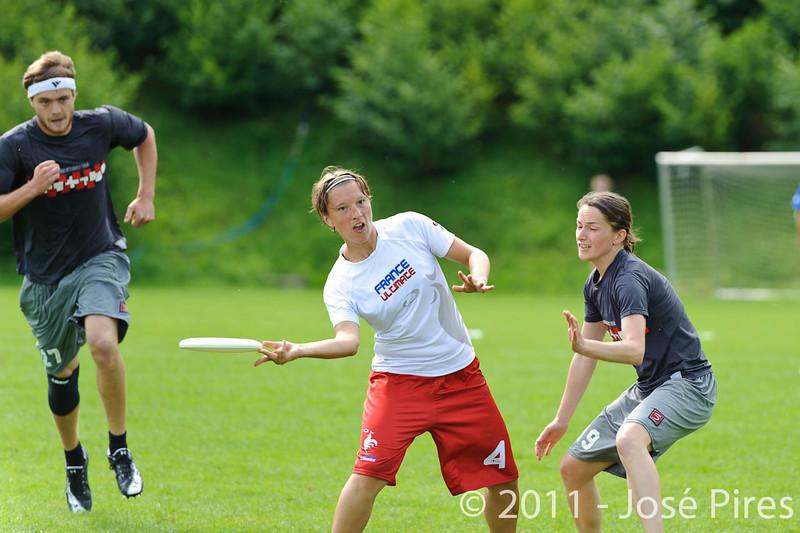 EUC2011, Maribor Slovenia.<br /> France vs Austria. Mixed Division.<br /> PhotoID : 2011-07-31-0101