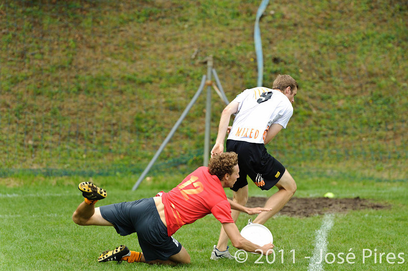 EUC2011, Maribor Slovenia.<br /> Belgium vs Netherlands. Mixed Division.<br /> PhotoID : 2011-07-31-0193