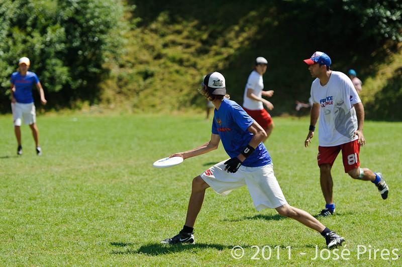EUC2011, Maribor Slovenia.<br /> Russia vs France. Semi-final. Mixed Division<br /> PhotoId :2011-08-05-0323