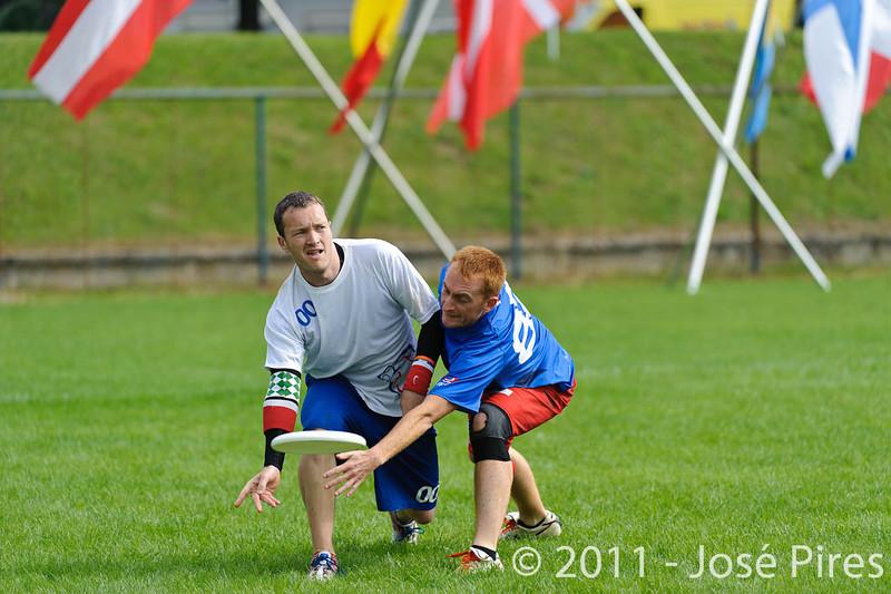 EUC2011, Maribor Slovenia.<br /> Great Britain vs France. Mixed Division.<br /> PhotoID : 2011-08-01-0002