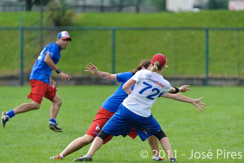 EUC2011, Maribor Slovenia.<br /> Great Britain vs France. Mixed Division.<br /> PhotoID : 2011-08-01-0032