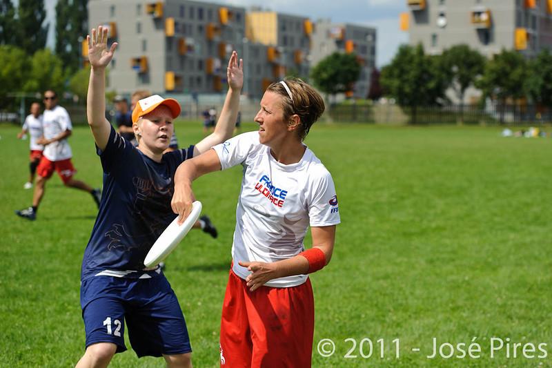 EUC2011, Maribor Slovenia.<br /> Finland vs France. Mixed Division.<br /> PhotoID : 2011-08-01-0593