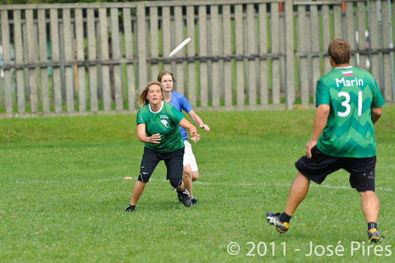 EUC2011, Maribor Slovenia.<br /> Russia vs Slovenia. Mixed Division.<br /> PhotoID : 2011-08-01-0074