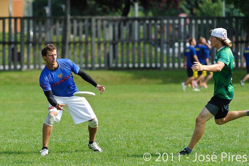 EUC2011, Maribor Slovenia.<br /> Russia vs Slovenia. Mixed Division.<br /> PhotoID : 2011-08-01-0183
