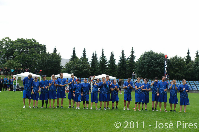 EUC2011, Maribor Slovenia.<br /> Opening Game.<br /> Slovenia vs Great Britain Mixed Division.<br /> PhotoID : 2011-07-30-0169
