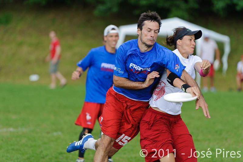 EUC2011, Maribor Slovenia.<br /> France vs Poland. Quarter-final. Mixed Division<br /> PhotoId :2011-08-04-0437