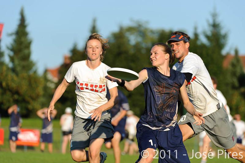 EUC2011, Maribor Slovenia.<br /> Austria vs Finland. Mixed Division.<br /> PhotoID : 2011-08-02-1193