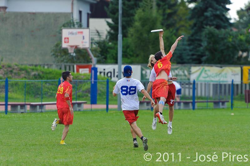 EUC2011, Maribor Slovenia.<br /> Spain vs France. Mixed Division.<br /> PhotoID : 2011-08-02-0335