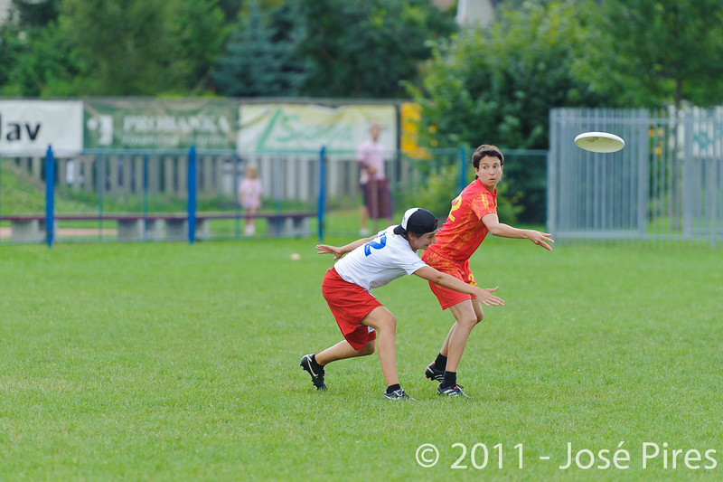 EUC2011, Maribor Slovenia.<br /> Spain vs France. Mixed Division.<br /> PhotoID : 2011-08-02-0341