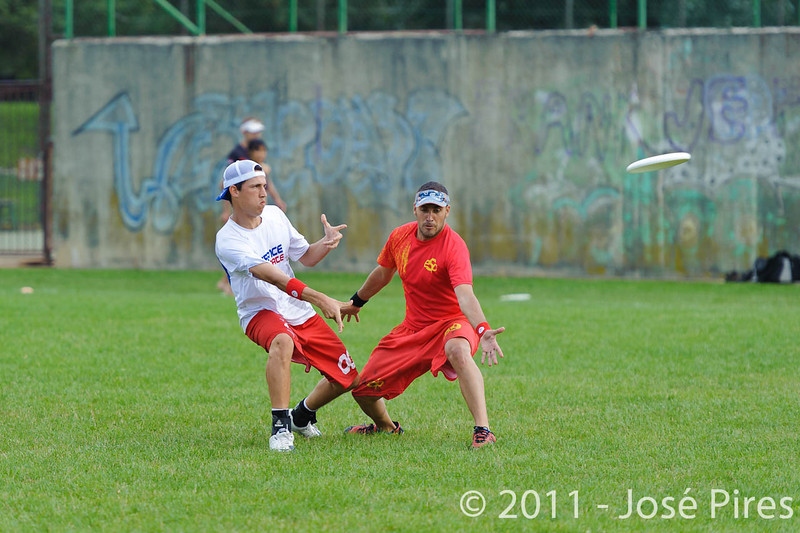 EUC2011, Maribor Slovenia.<br /> Spain vs France. Mixed Division.<br /> PhotoID : 2011-08-02-0333