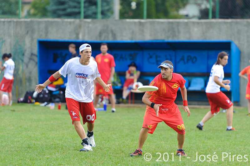 EUC2011, Maribor Slovenia.<br /> Spain vs France. Mixed Division.<br /> PhotoID : 2011-08-02-0349