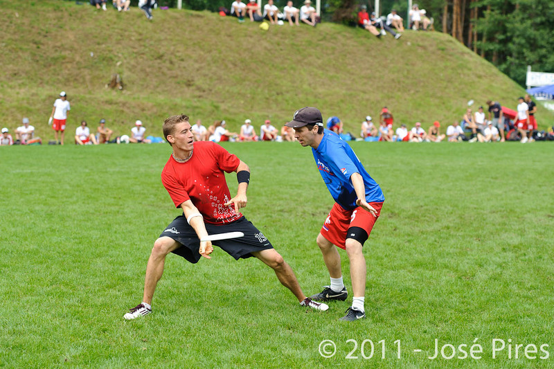 EUC2011, Maribor Slovenia.<br /> France vs Switzerland. Open Division.<br /> PhotoID : 2011-07-31-0317