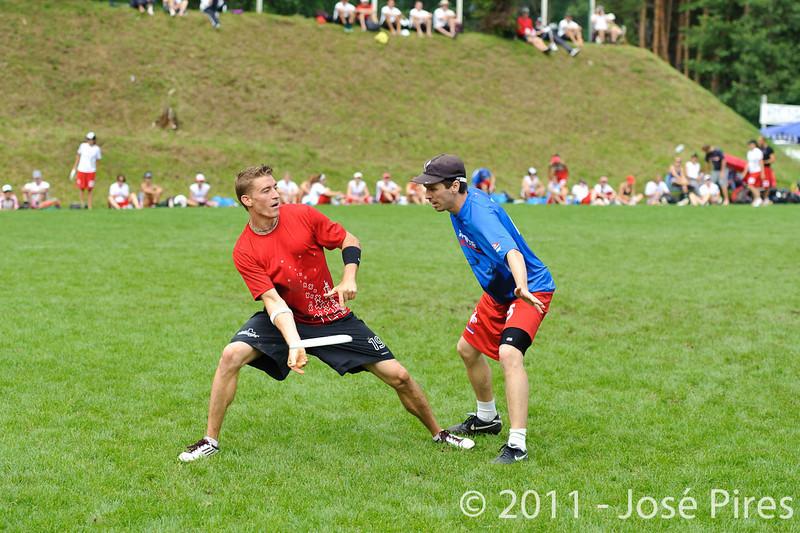 EUC2011, Maribor Slovenia.<br /> France vs Switzerland. Open Division.<br /> PhotoID : 2011-07-31-0317