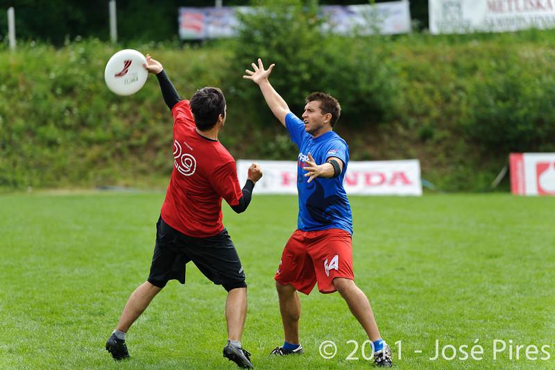 EUC2011, Maribor Slovenia.<br /> France vs Switzerland. Open Division.<br /> PhotoID : 2011-07-31-0150