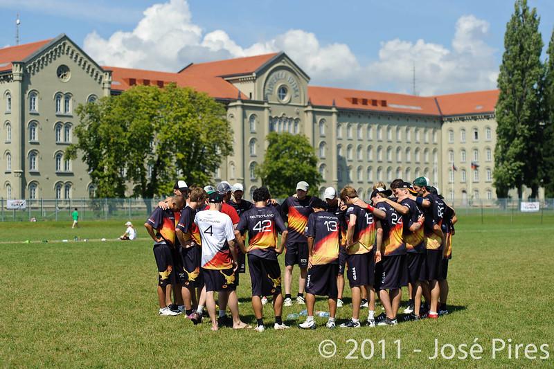 EUC2011, Maribor Slovenia.<br /> Germany vs Great Britain. Semi-final. Open Division<br /> PhotoId :2011-08-05-0053