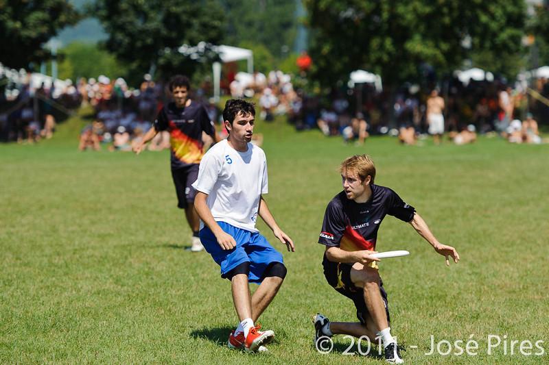 EUC2011, Maribor Slovenia.<br /> Germany vs Great Britain. Semi-final. Open Division<br /> PhotoId :2011-08-05-0102