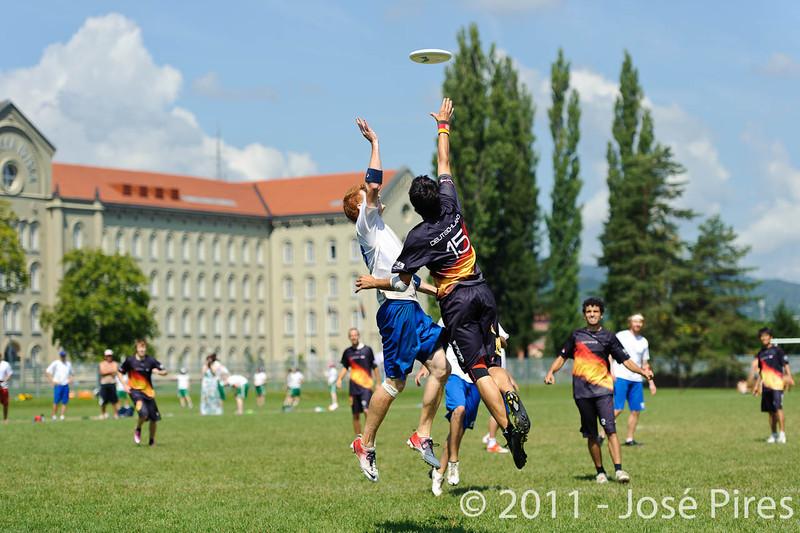 EUC2011, Maribor Slovenia.<br /> Germany vs Great Britain. Semi-final. Open Division<br /> PhotoId :2011-08-05-0042
