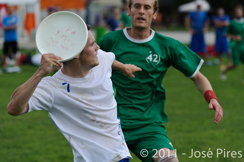 EUC2011, Maribor Slovenia.<br /> Ireland vs Great Britain. Open Division.<br /> PhotoID : 2011-07-31-0679