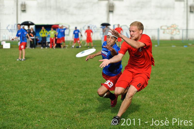 EUC2011, Maribor Slovenia.<br /> France vs Denmark. Open Division.<br /> PhotoID : 2011-08-01-0844