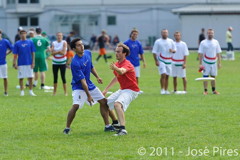 EUC2011, Maribor Slovenia.<br /> Italy vs Belgium. Open Division.<br /> PhotoID : 2011-08-01-0103