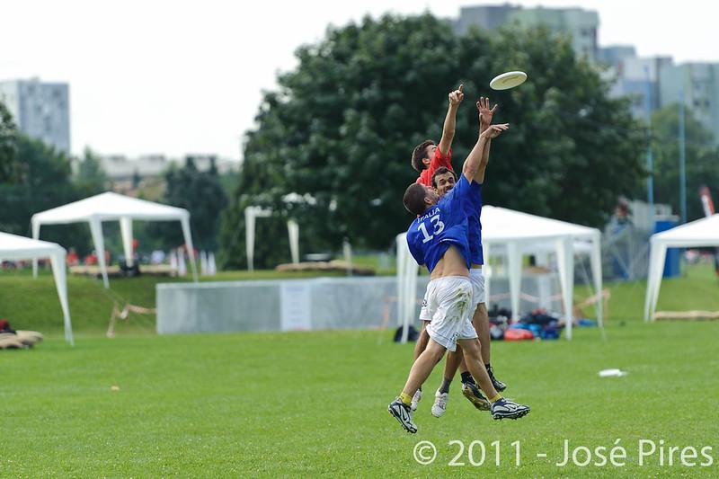 EUC2011, Maribor Slovenia.<br /> Italy vs Belgium. Open Division.<br /> PhotoID : 2011-08-01-0041