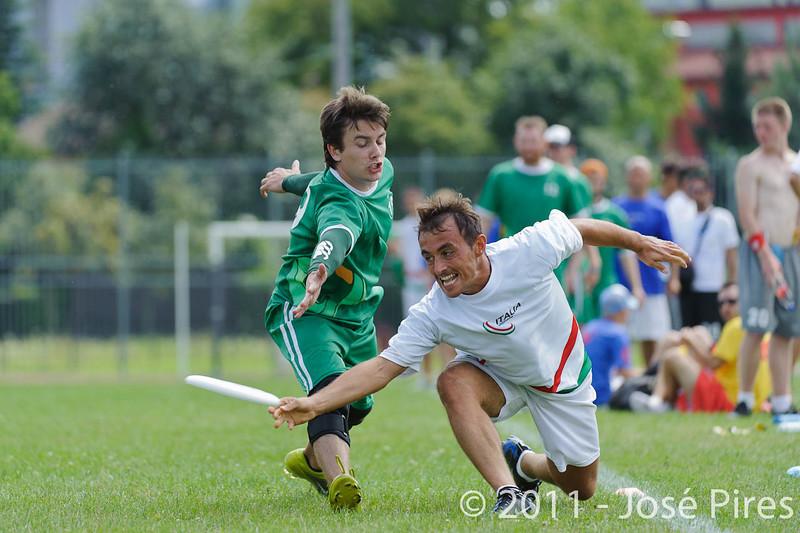 EUC2011, Maribor Slovenia.<br /> Italy vs Ireland. Open Division.<br /> PhotoID : 2011-08-01-0523