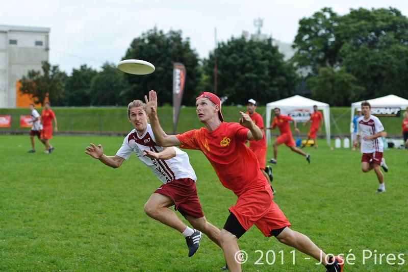 EUC2011, Maribor Slovenia.<br /> Latvia vs Spain. Open Division.<br /> PhotoID : 2011-08-01-0722