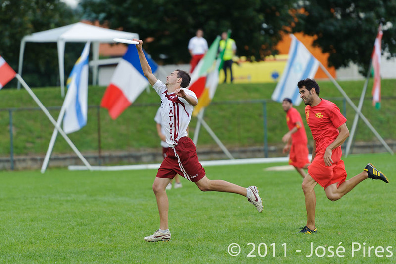 EUC2011, Maribor Slovenia.<br /> Latvia vs Spain. Open Division.<br /> PhotoID : 2011-08-01-0579