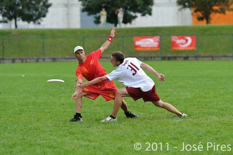 EUC2011, Maribor Slovenia.<br /> Latvia vs Spain. Open Division.<br /> PhotoID : 2011-08-01-0737