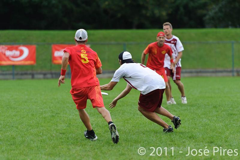 EUC2011, Maribor Slovenia.<br /> Latvia vs Spain. Open Division.<br /> PhotoID : 2011-08-01-0564