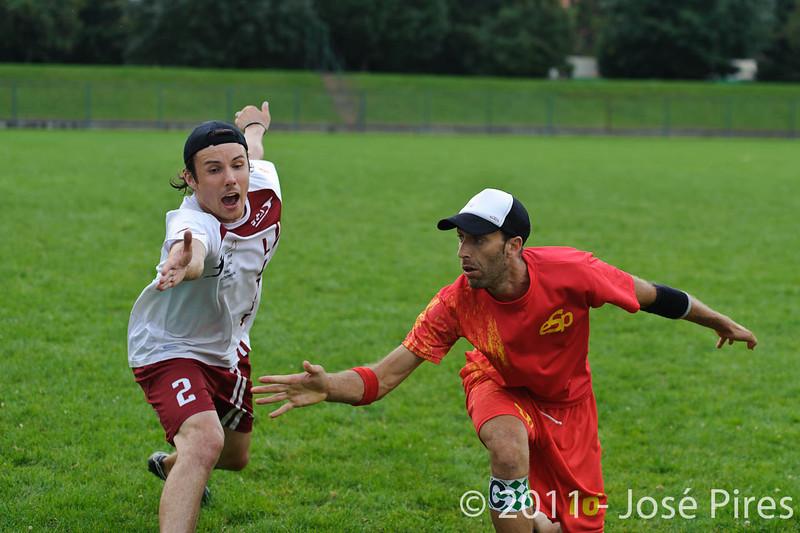 EUC2011, Maribor Slovenia.<br /> Latvia vs Spain. Open Division.<br /> PhotoID : 2011-08-01-0707