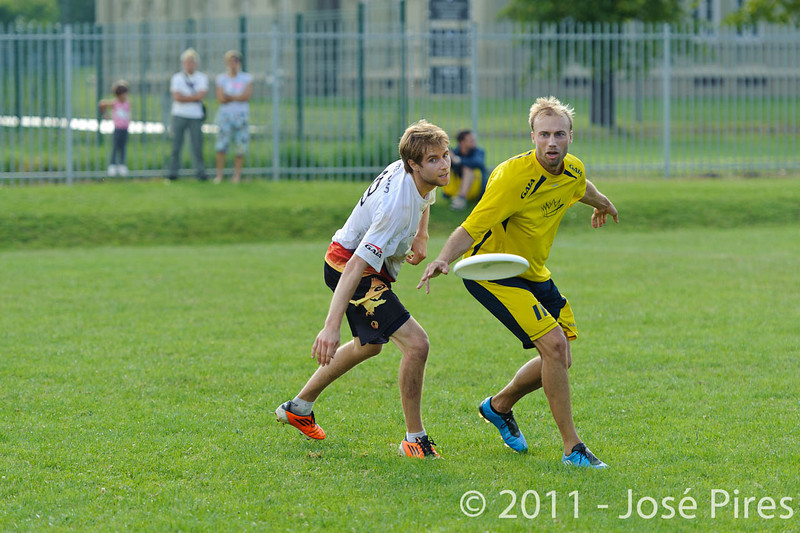 EUC2011, Maribor Slovenia.<br /> Sweden vs Germany. Open Division.<br /> PhotoID : 2011-08-01-0895
