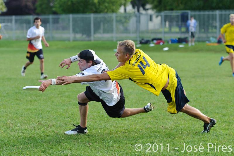 EUC2011, Maribor Slovenia.<br /> Sweden vs Germany. Open Division.<br /> PhotoID : 2011-08-01-0910