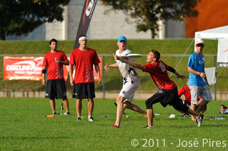 EUC2011, Maribor Slovenia.<br /> Switzerland vs Finland. Open Division.<br /> PhotoID : 2011-08-01-1094
