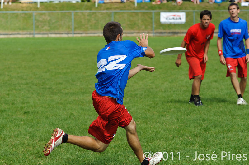 EUC2011, Maribor Slovenia.<br /> France vs Denmark. Pre-Quarterfinals. Open Division<br /> PhotoId :2011-08-04-0063